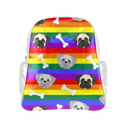Gay Pride Pugs Multi-Pockets Backpack (Model 1636)