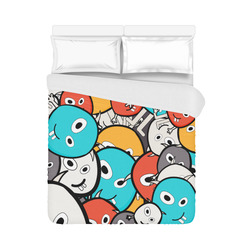 "multicolor doodle monsters Duvet Cover 86""x70"" ( All-over-print)"