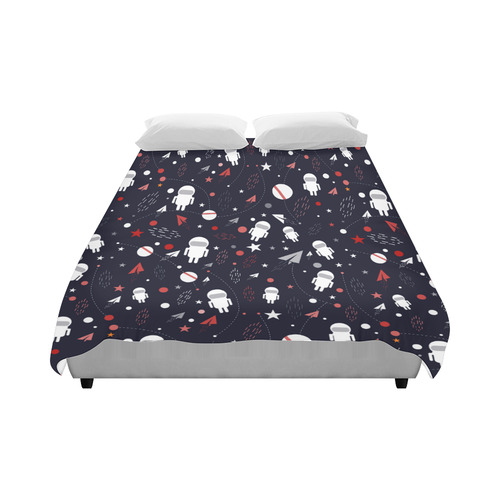 "Astronaut Doodle Duvet Cover 86""x70"" ( All-over-print)"