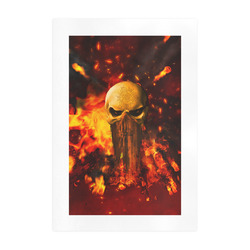 Amazing skull with fire Art Print 19''x28''