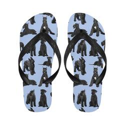 Giant Schnauzer lt blue Flip Flops for Men/Women (Model 040)