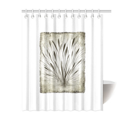 """Simple, elegant ink, watercolor grass, brown hues Shower Curtain 60""""x72"""""""