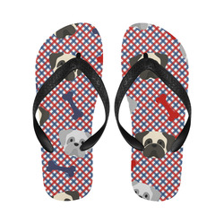 Patriotic Pugs Flip Flops for Men/Women (Model 040)