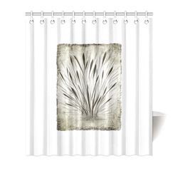 "Simple, elegant ink, watercolor grass, brown hues Shower Curtain 66""x72"""