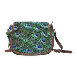 Peacock Feathers Saddle Bag/Large (Model 1649)