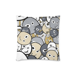 """doodle monsters Custom Zippered Pillow Case 18""""x18""""(Twin Sides)"""