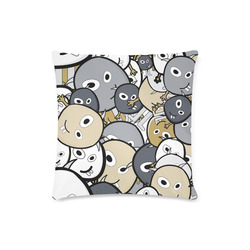 """doodle monsters Custom Zippered Pillow Case 16""""x16"""" (one side)"""