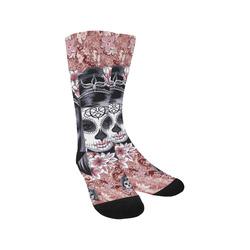 Skull Of A Pretty Flowers Lady Pattern Trouser Socks