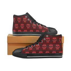 Skull pattern 517 A by JamColors Women's Classic High Top Canvas Shoes (Model 017)