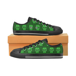 Skull pattern 517 D by JamColors Women's Classic Canvas Shoes (Model 018)