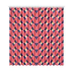 """red triangle tile ceramic Window Curtain 50""""x108""""(Two Piece)"""