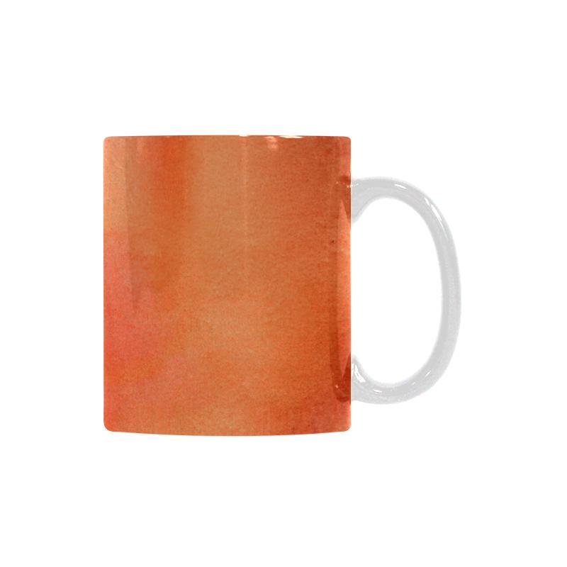 orange yellow watercolor White Mug(11OZ)