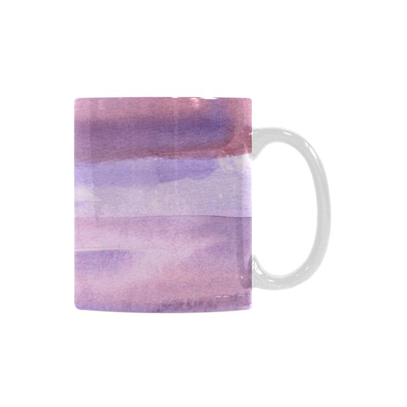 pink purple watercolor White Mug(11OZ)