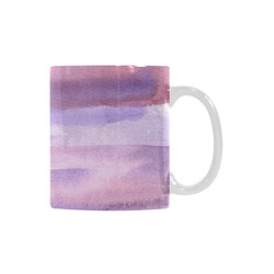 pink purple watercolor White Mug(11OZ)