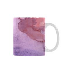purple red watercolor White Mug(11OZ)