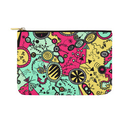 Comic Doodle Illustration in Colour Carry-All Pouch 12.5''x8.5''