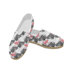Pink Flamingos Palm Fronds Unisex Casual Shoes (Model 004)