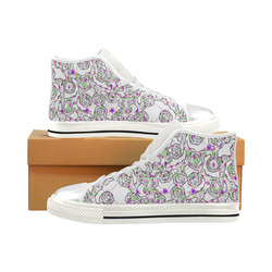 Abstract Pattern Mix 5B by FeelGood Women's Classic High Top Canvas Shoes (Model 017)