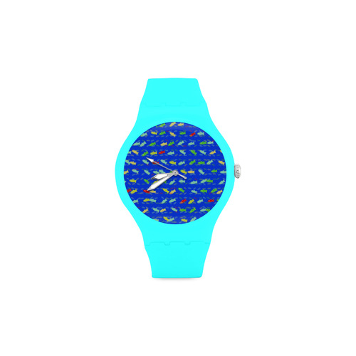 cute fish pattern C by FeelGood Unisex Round Rubber Sport Watch(Model 314)