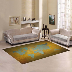 world map 34 Area Rug7'x5'