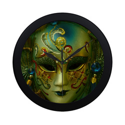 Carnival mask 2B by FeelGood Circular Plastic Wall clock