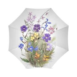 Vintage Wildflowers Foldable Umbrella (Model U01)