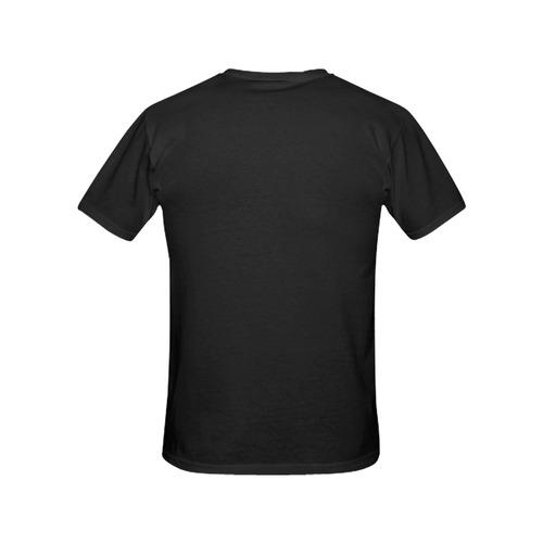 Black All Over Print T-Shirt for Women (USA Size) (Model T40)