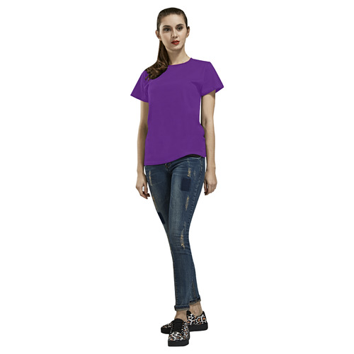 Royal Purple All Over Print T-Shirt for Women (USA Size) (Model T40)