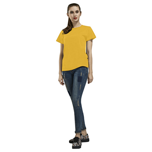 Yellow All Over Print T-Shirt for Women (USA Size) (Model T40)