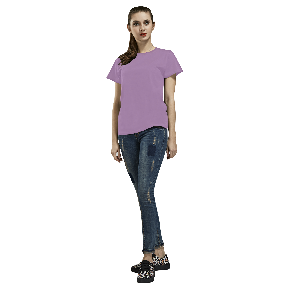 lilac purple All Over Print T-Shirt for Women (USA Size) (Model T40)