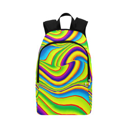 Summer Wave Colors Fabric Backpack for Adult (Model 1659)
