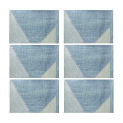 jeans-1401888 Placemat 12'' x 18'' (Six Pieces)