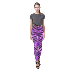 swinging hearts, pink by FeelGood Cassandra Women's Leggings (Model L01)