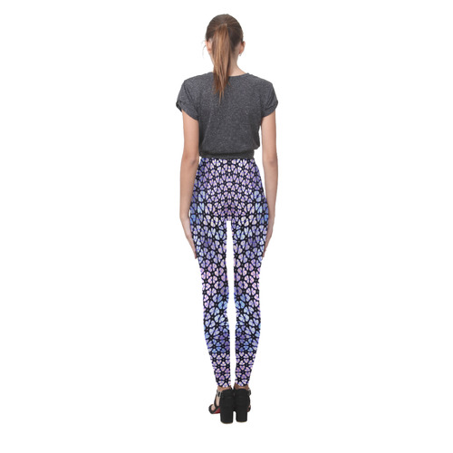 swinging hearts, blue by FeelGood Cassandra Women's Leggings (Model L01)
