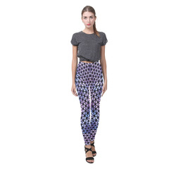 swinging hearts, blue by FeelGood Cassandra Women's Leggings (Model L01)