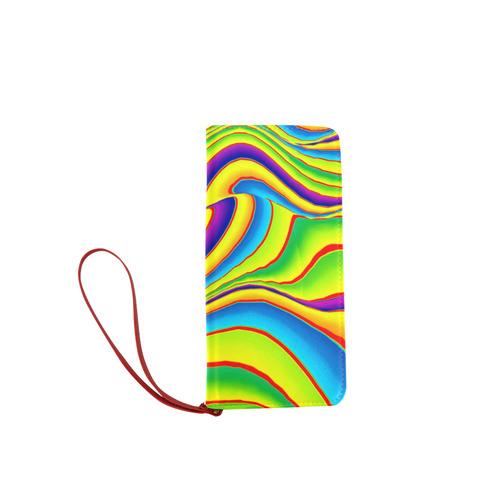 Summer Wave Colors Women's Clutch Wallet (Model 1637)