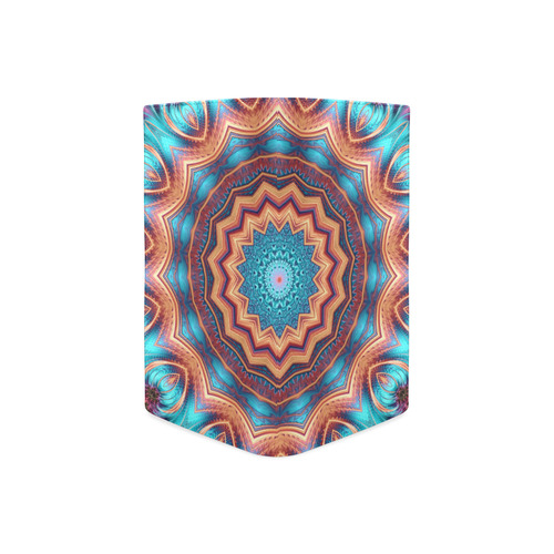 Blue Feather Mandala Women's Leather Wallet (Model 1611)