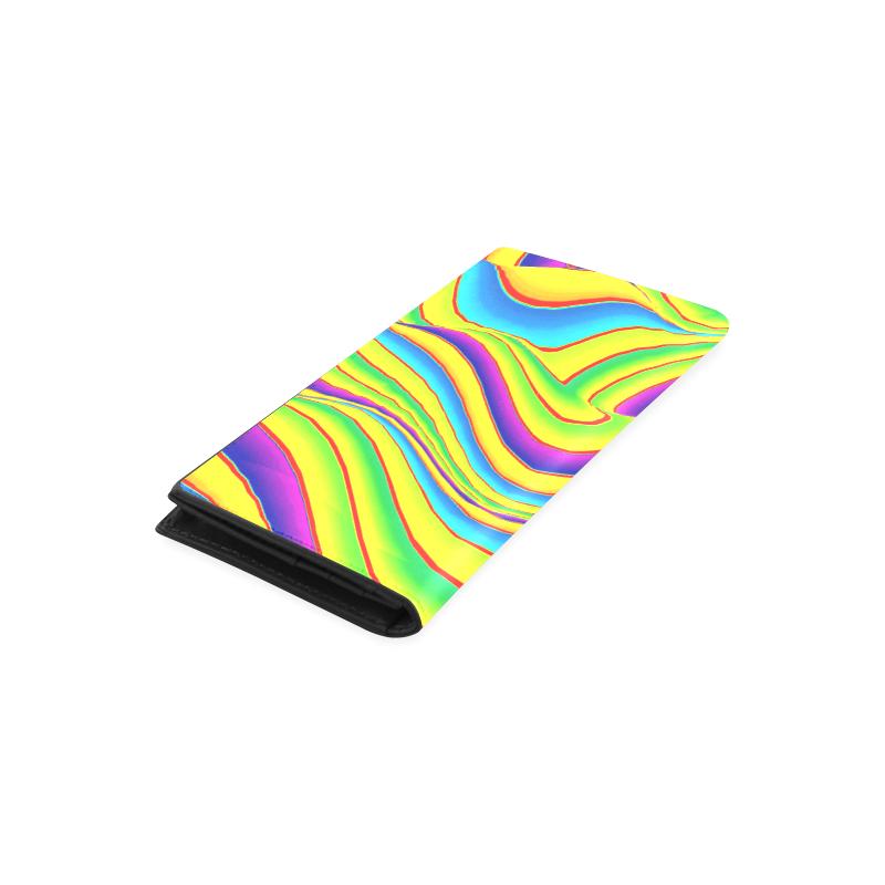 Summer Wave Colors Women's Leather Wallet (Model 1611)
