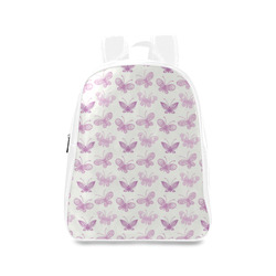 Fantastic Pink Butterflies School Backpack/Large (Model 1601)