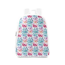 Watercolor Colorful Butterflies School Backpack/Large (Model 1601)