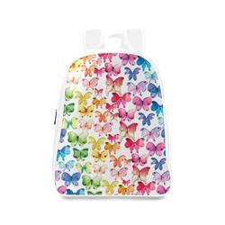 Rainbow Butterflies School Backpack/Large (Model 1601)