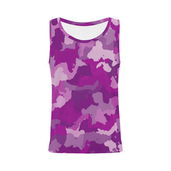 camouflage purple All Over Print Tank Top for Women (Model T43)