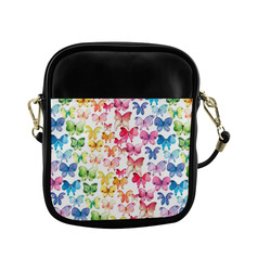 Rainbow Butterflies Sling Bag (Model 1627)