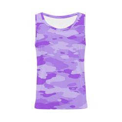 Purple Camo All Over Print Tank Top for Women (Model T43)