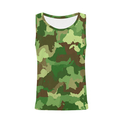 camouflage green All Over Print Tank Top for Women (Model T43)