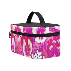 Pink Pansy Cosmetic Bag/Large (Model 1658)