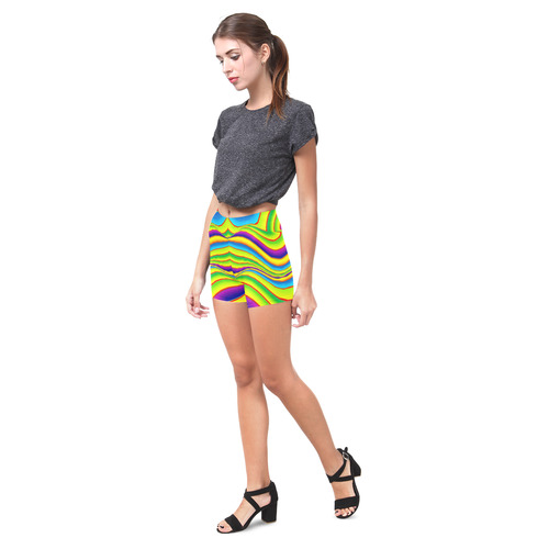 Summer Wave Colors Briseis Skinny Shorts (Model L04)