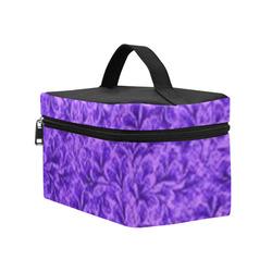 Vintage Leaf Purple Cosmetic Bag/Large (Model 1658)