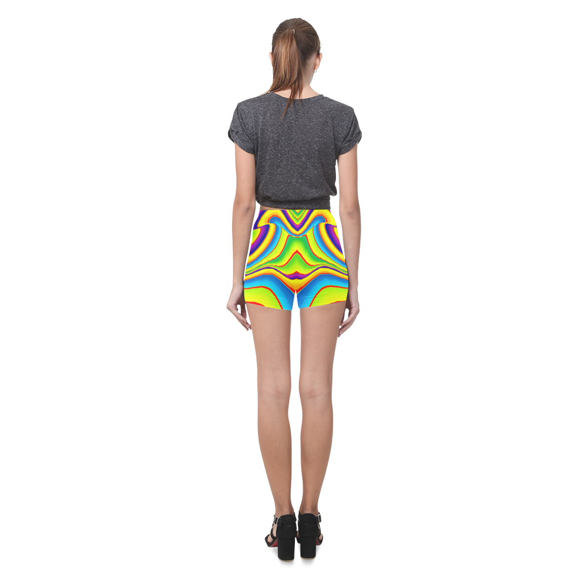 Summer Wave Colors Briseis Skinny Shorts (Model L04)