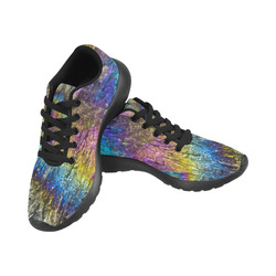 Colorful stone texture Men's Running Shoes (Model 020)